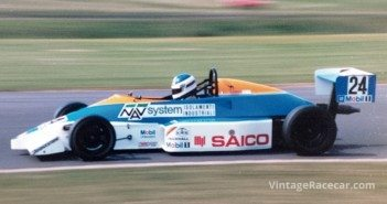 After an unsuccessful attack in Formula Three, Sospiri returned to the Opel Lotus championship for the 1990 seasonÑthis time with much success in the EFDA European Series. Here he is pictured between McLeans and Coppice corners at Donington Park.