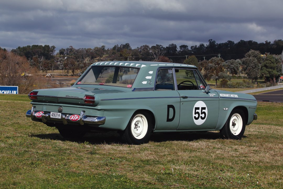 Owner Rick Marks restored the car to its period livery from Bathurst 1967, over the factory green that signified the local Police Commissioner.Photo: Steve Oom