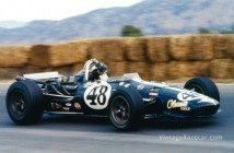 Dan Gurney drives an Eagle to victory in the Rex Mays 300 Indycar race at Riverside, California. He becomes the first driver to win in the four major racing disciplines of Indycars, stock cars, F1 and sports cars (1967).