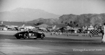 Southern CaliforniaÕs other airstrip racing venue was March Field near Riverside. There, in 1953, we see Gene ScottÕs Bristol Special in action.