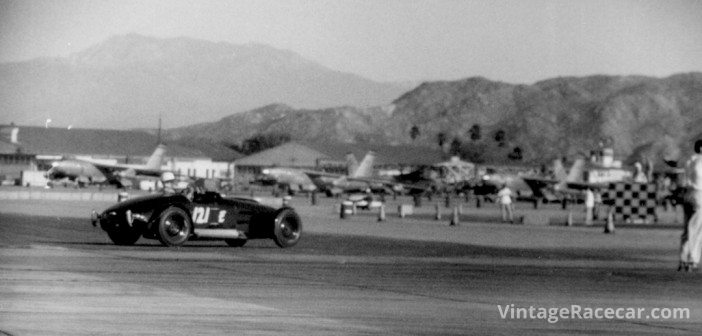 Southern CaliforniaÕs other airstrip racing venue was March Field near Riverside. There, in 1953, we see Gene ScottÕs Bristol Special in action.Photo: Michael A. Jacobsen