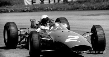 Bandini in the Ferrari T1512/63 during the non-championship International Trophy race at Silverstone in the Spring of 1965, where he finished 7th.