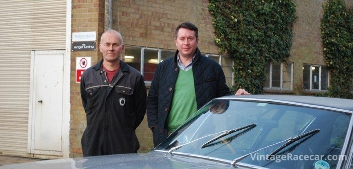 Bob Cherry (left) founded Jensen specialists Cropredy Bridge Garage and now works alongside its current owner Matthew Watts (right).