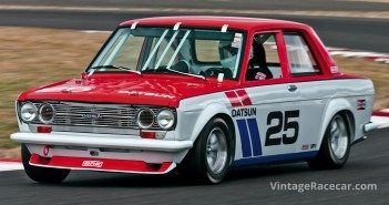 Tidy Datsun 510 powers out of Turn 9.