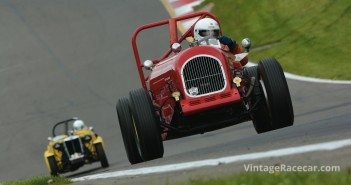 Peter McManus heads his 1929 Ardent Alligator up the hill. 