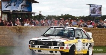 Andy Krinks puts the boot to his Audi Quattro rally machine.