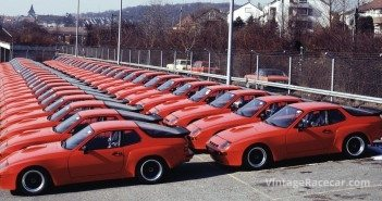 To gain Homologation to Group 4 in 1982, the FIA decided that 50 cars had to be seen by the authenticating inspectors all togetherÑand here they are.