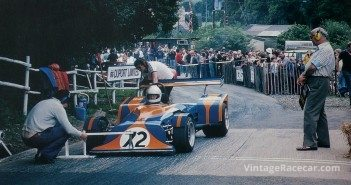 Setting up for the start at Shelsley Walsh in 1979, Joy Rainey in her Murrian is about to break the hill record in her classÑagain!
