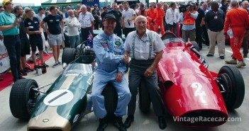 David Branham and Stirling Moss in the Parade of Grand Prix Cars.