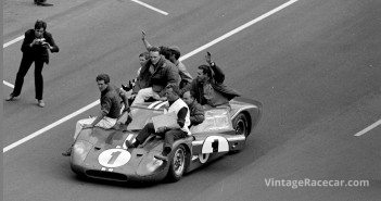 24 Hours of LeMans LeMans France 1967. Ford Mark VI winner with crew.