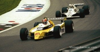 1980 Austrian GP, Jabouille leads Jones.