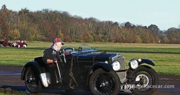 Mark Ballard and his 1931 Frazer Nash Falcon TT Replica. Pete Austin