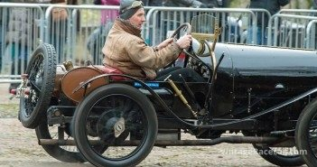 A 1924 Bugatti T13 Brescia breaks traction. Michael Fox-Byrne