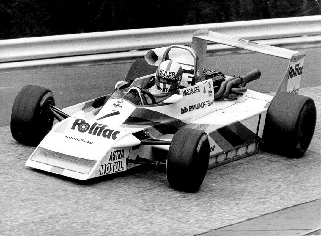 Marc Surer March-BMW 792 NŸrburgring. Photo: BRDC