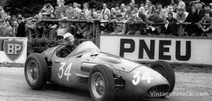 After his original car lost a wheel at Spa in Õ56, Moss took over this Maserati 250F from teammate Cesare Perdisa and forged his way back to finish 3rd.