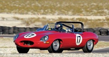 The red streak in the 1965 Jaguar E-Type was Jeff Lotman. Photo: Brian Green