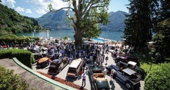 Beautiful view of Lake Cuomo and the show grounds.Photo: BMW
