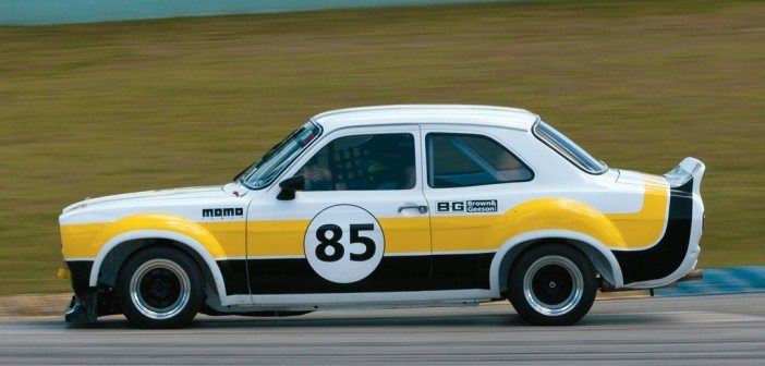 Sean Brown at speed in his Õ75 Ford Escort RS.