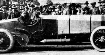 Count Zborowski with Chitty Bang Bang 1 at Brooklands.
