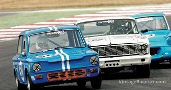 The very fast Hillman Imp of Simon Benoy (#50).Photo: Peter Collins
