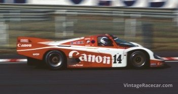 1985 Canon Porsche 956 at Le Mans.