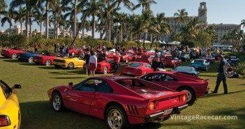 Ferraris of all stripe on the show grounds.