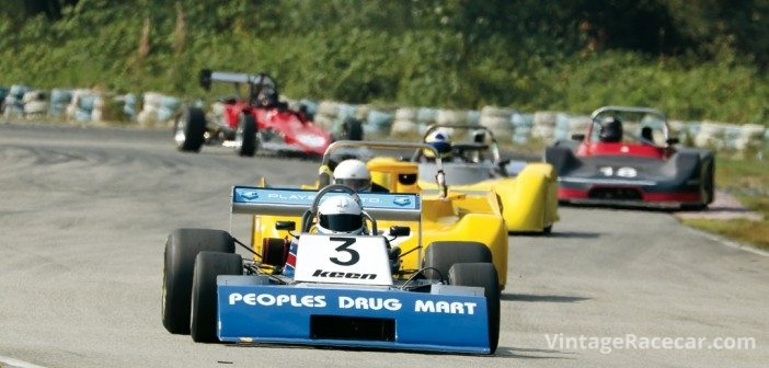 Leading this pack is Marty KnollÕs 1975 Johnston JM3.Photo: Brent Martin