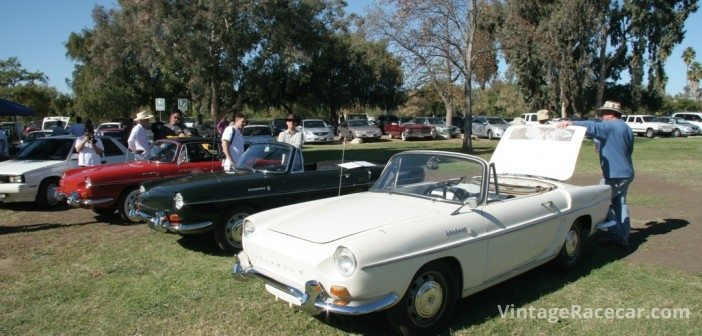 Rare American sighting of a flock of Renault Caravelles.