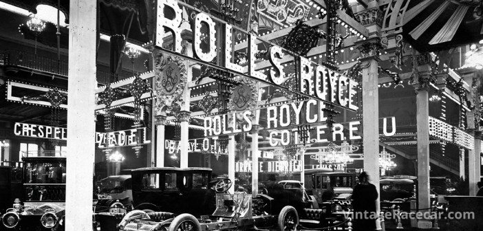 The Rolls Royce stand at 1910 Paris Motor Show.