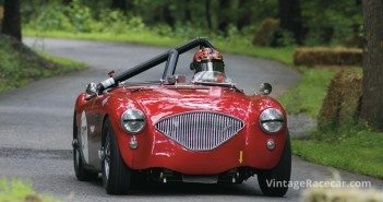 Racing this Austin-Healey 100 was Michael Bartell. 