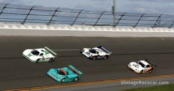 Two 962s, a Jag and an Olds Aurora on the banking.Photo: Martin Spetz Martin Spetz