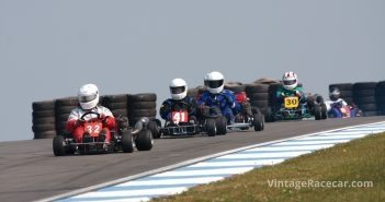 A mix of historic 1970s gearbox karts.