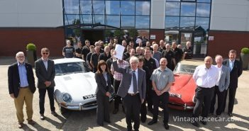 Classic Motor Cars chairman Peter Neumark handing over the company to the employees. DAVE BAGNALL
