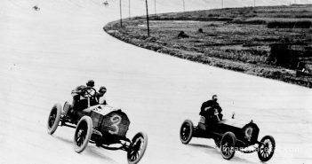 First race held on the Brooklands circuit in England (1907).