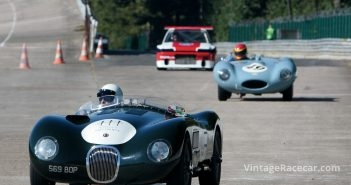 Jaguar D-Type chases Jaguar C-Type.Photo: Chris Willows