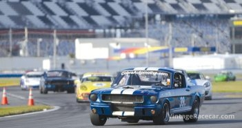 Russell Flynne looks solid in his 1966 Shelby GT350. Photo: Chuck Andersen