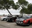 Fiat Ritmo 138 and Datsun 240Z until the start in Lambesc city.