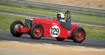 John Payne leans into his very quick MG J2 Special.Photo: Steve Oom