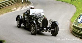 Roland Duce put his boot into his exquisite Bugatti T43. Photo: Pete Austin