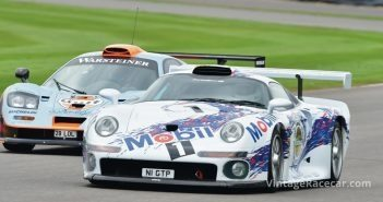Porsche GT1 and McLaren F1 GTR at Madgwick.Photo: Peter Collins