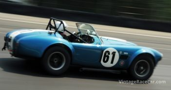 Tom Benjamin puts his boot into his 1964 Cobra.Photo: Michael Casey-DiPleco