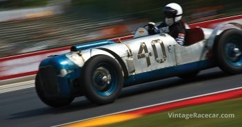 HereÕs Avery Reed at speed in his 1932 MGTC. Photo: JR Schabowski