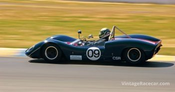The sleek and elegant 1966 Elva Mk8 of Michael Malone. Photo: Zane Terry