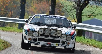 The Furlan and Flescovich Martini Lancia 037 on the limit.Photo: Peter Collins