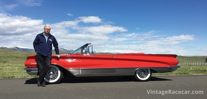 Petersen and his beloved 1960 Buick Electra 225 convertible.
