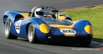 Paul Wilson taking a curve in his 1965 Lola T70 MkII.Photo: Walter Pietrowicz