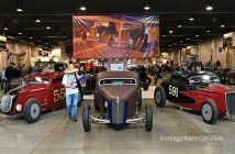 A trio of Bonneville hot rod coupe racecars. Photo: Howard Koby