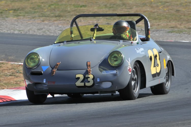 The Porsche 356 of Ron Goodman. Peter Schell Photo.