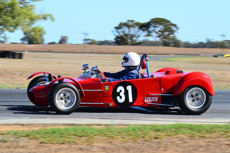 Nigel Tait in the lovely ex-Ian Pope Lolita Mk1 competing in Regularity.