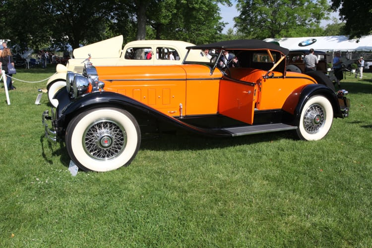The 1930 Packard 734 Speedster Roadster of Fred & Dan Kanter. Jackson X.